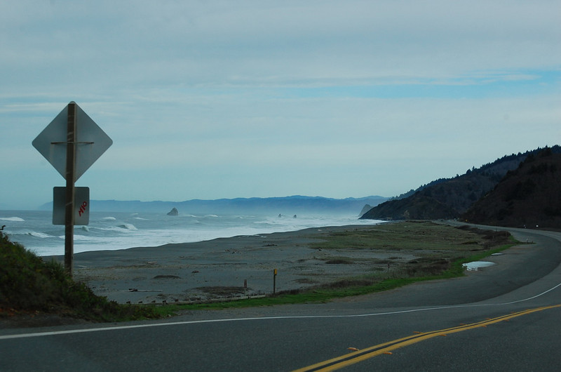 Getting to the office -- along highway 101, passig bays, beaches and estuaries.