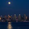 Moonrise over San Diego