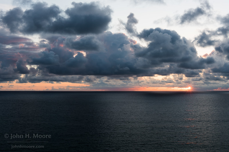 A stormy sunset over the Pacific Ocean.  La Jolla, California, USA.