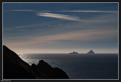 The Skeligs, from Kerry Cliffs