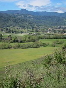 Looking across Almaden valley towards Mount Umunhum.