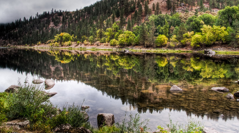 Fall along the Clearwater River, Idaho
