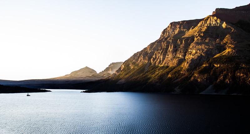 Sunrise over St. Mary Lake Glacier National Park