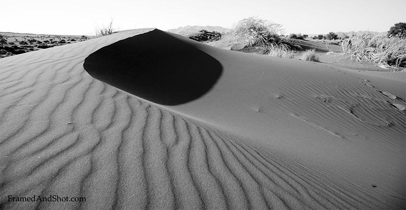 <em><b><center> Sand in B&W