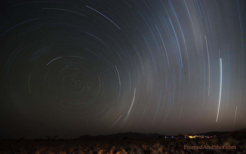 <em><b><center> Star trails over The NamibRand Nature Reserve