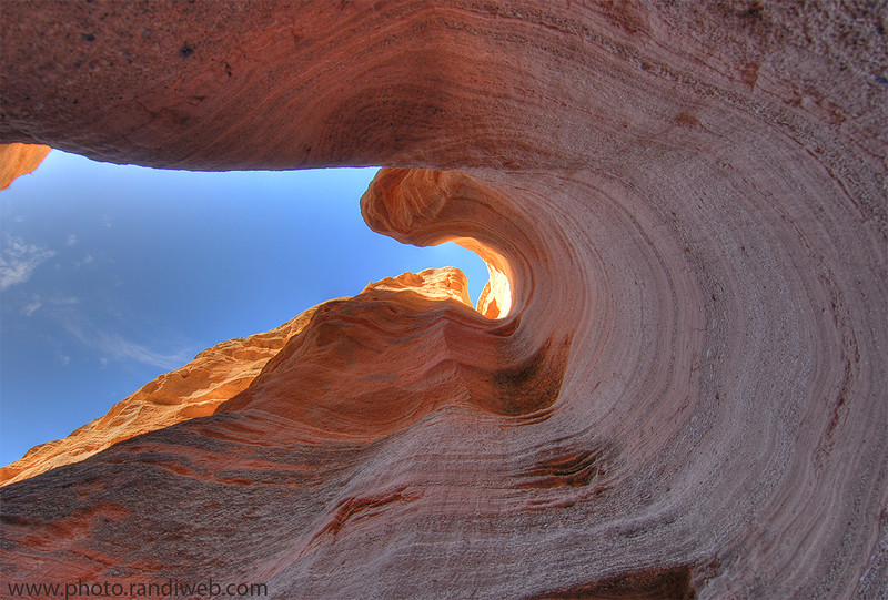 <strong><Center>Sandstone Swirl<br> Kasha-Katuwe Tent Rocks National Monument, is located 40 miles southwest of Santa Fe, New Mexico