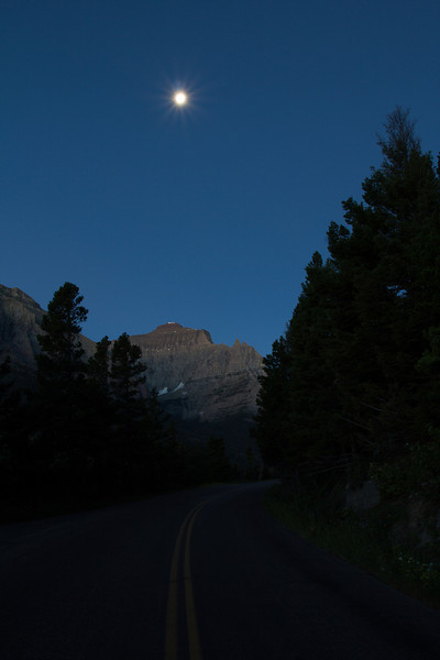 Night shots of Glacier National Park