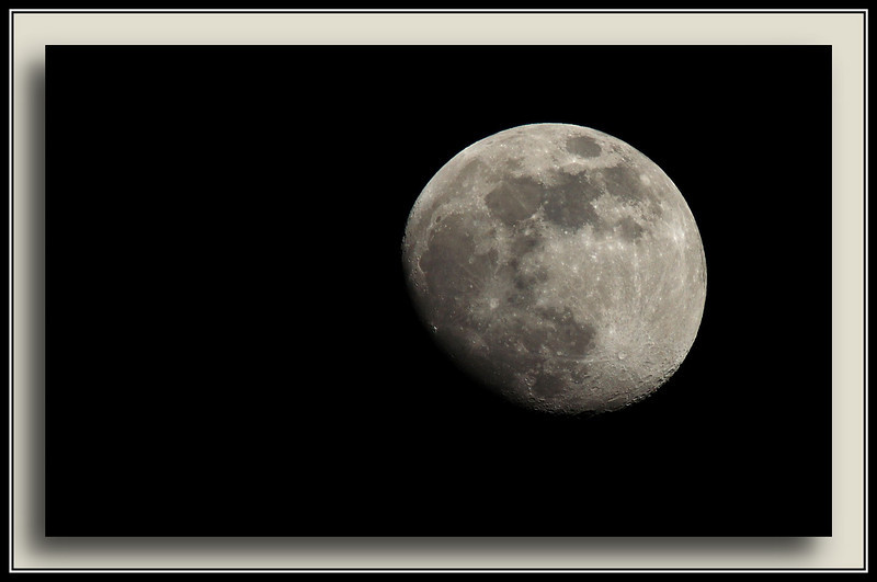 February Moon - one of the first RAW captures with the new camera. (w/ Sigma 50-500)