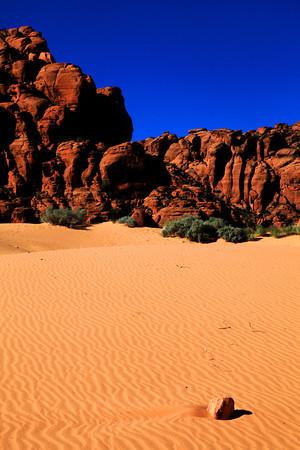 Sand Dunes in Snow Canyon, Utah