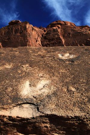 Dinosaur Tracks near Moab, Utah