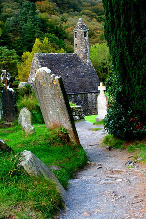 Cemetery at Glendalough near Dublin, Ireland