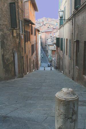 Street Scene in Siena, Italy