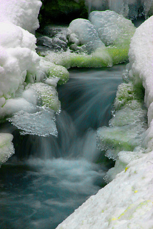 Winter Stream at Sundance, Utah
