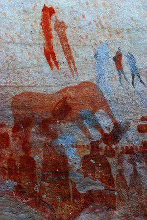 Rock Art at Bushman's Kloof South Africa