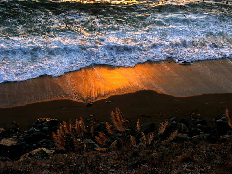SUNSET BEACH  BIG SUR