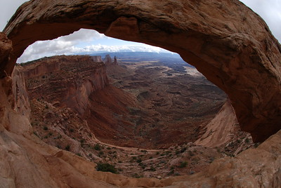 © Joseph Dougherty. All rights reserved.   Looking through Mesa Arch, Canyonlands National Park, Utah