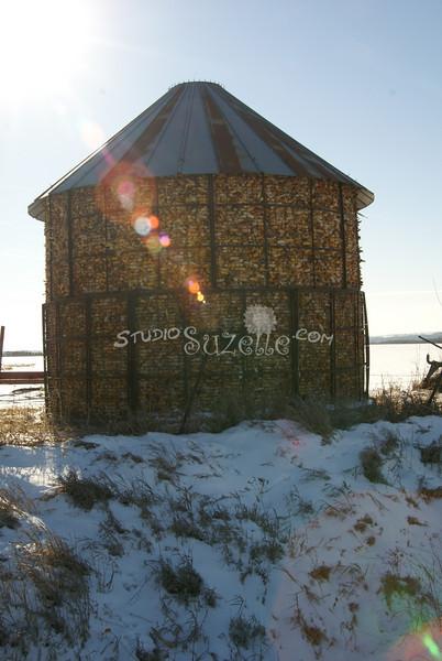 (177) Corn Crib in Madison County, Iowa