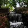 Spillway at Poinsett State Park, South Carolina built by CCC Boys during the Depression.