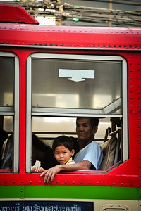 In the bus, Bangkok, Thailand