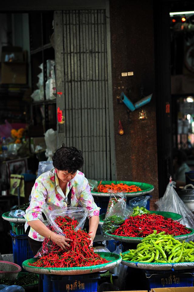 Chillies Street Vendor, Bangkok (Thailand)