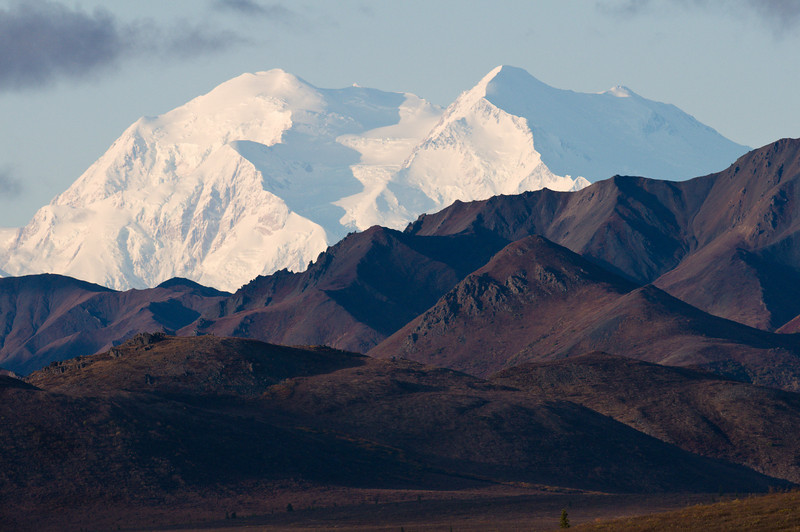 Summit of Denali in background