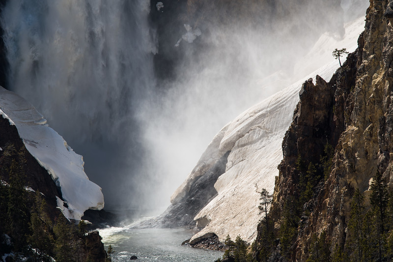Bottom of lower falls - Yellowstone River