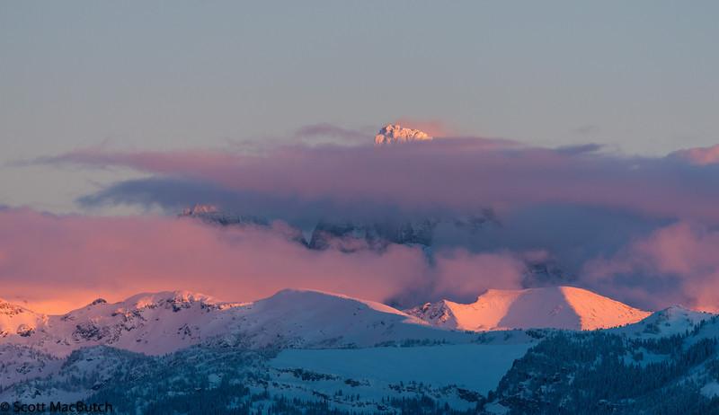 Grand Teton Winter Sunset