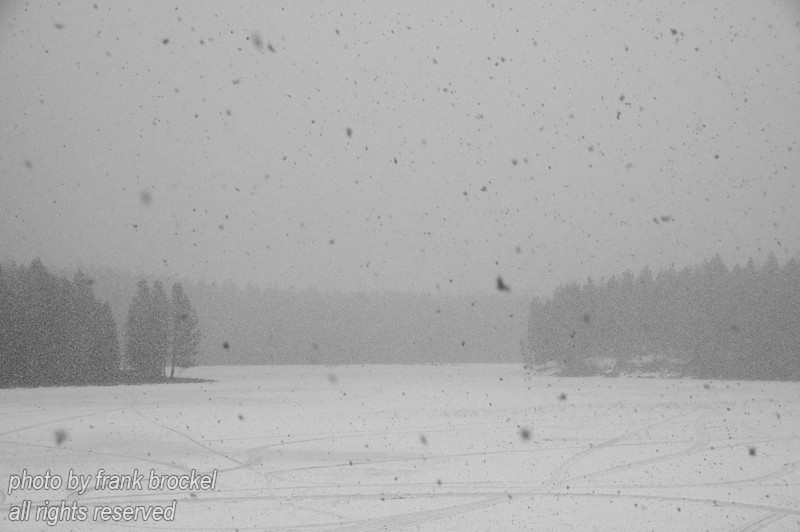North Star Lake in S.E. British Columbia during a passing winter storm.