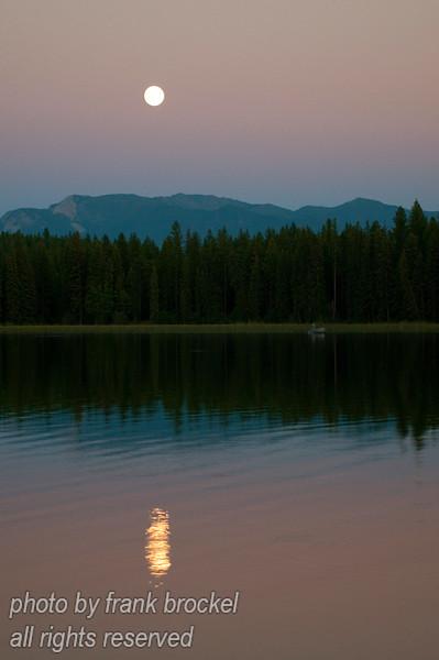 Moon above North Star Lake