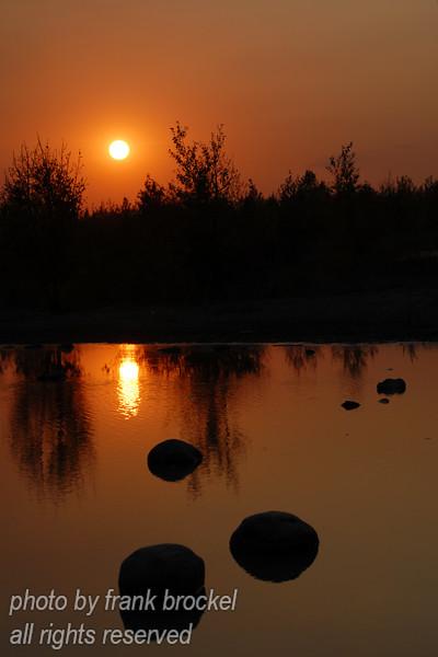 Sunset on a Pond