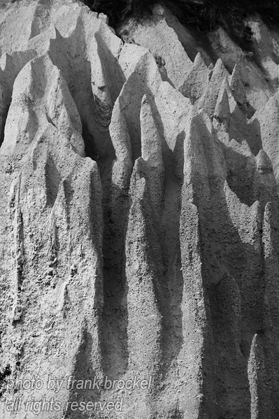 The Hoodoos near Fairmont Hotsprings, B.C..  The Columbia River meanders through Fairmont Hot Springs into Windermere Lake. near Fairmont stand weirdly-shaped hoodoos, impressive pillars of sand and silt.