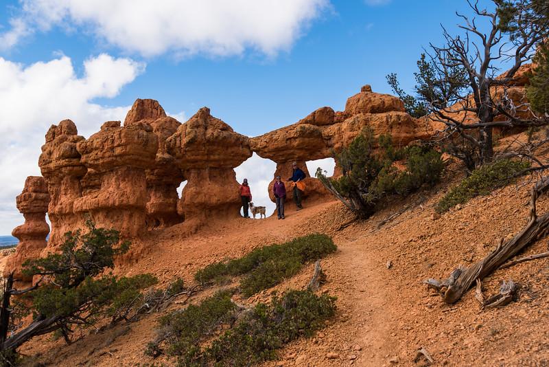 Hiking near Red Canyon (Nicki, Blue Dog, Lynda & John)