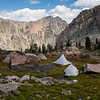 Camp above Talus Lake