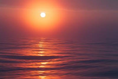 Pelagic Sunrise, Pacific Ocean, off of the Olympic Peninsula, coastal Washington