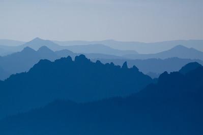 Silhouetted Ridges, Mount Rainier National Park, Washington