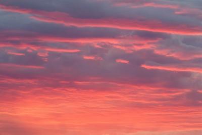 Brilliant Sunset, as seen from Omak Muntain, Okanogan County, Washington