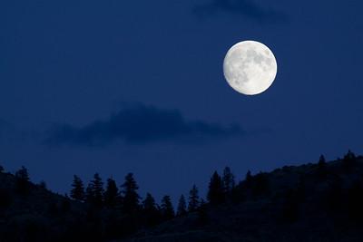 Full Moon over the Loup Loup Loup Pass, Okanogan County, Washington