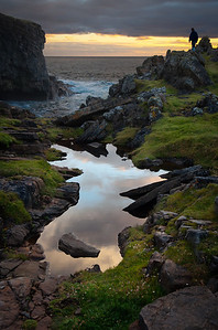 A puddle in the vicinity of Yesnaby, Orkney.