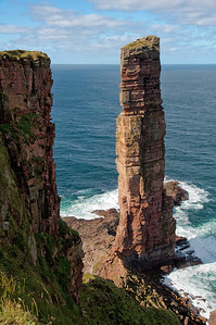 The Old Man of Hoy. With a rock climber on his way up, athough you can probably only see him in full resolution.