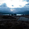 Early morning looking at Loch Ossian