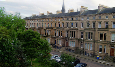 View from our room in Edinburgh