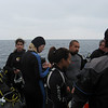 Last minute briefing from the Divemaster before we get wet.