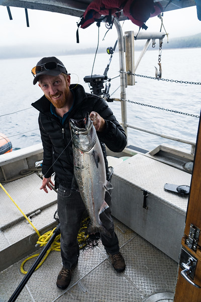 King Salmon caught by Ryan