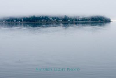 Fog Over Hale's Passage, Puget Sound