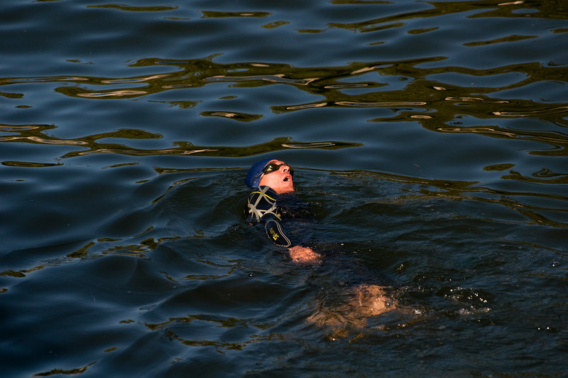 CAPTION: Swimmer<br /> LOCATION: Boulevard Park, Bellingham, Washington<br /> DATE: 8-25-10<br /> NOTES: I photographed this man swimming in the bay