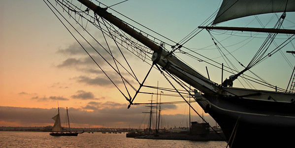 Old ship in San Diego harbor   [fx]