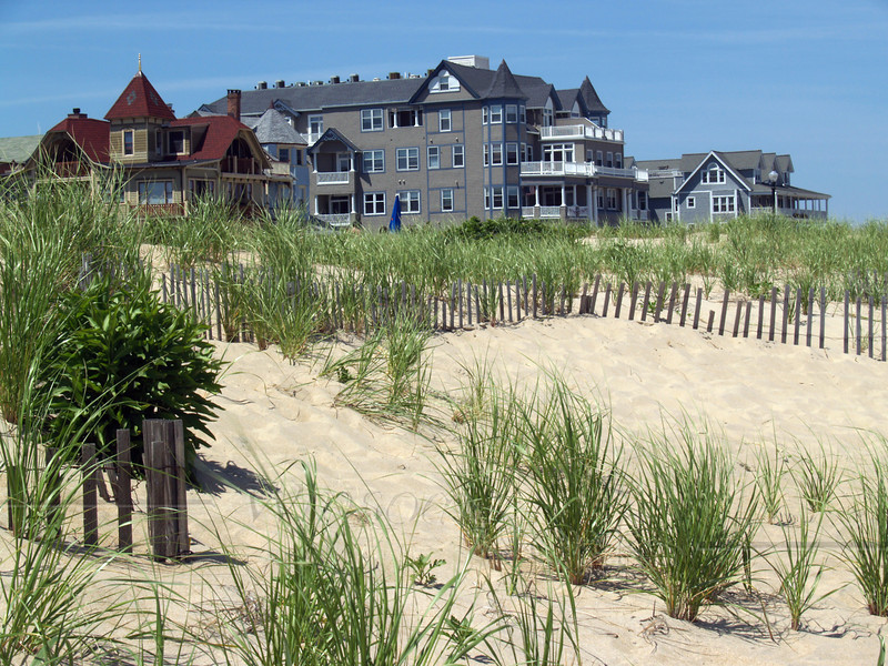 Vintage beach houses at North end of Ocean Grove