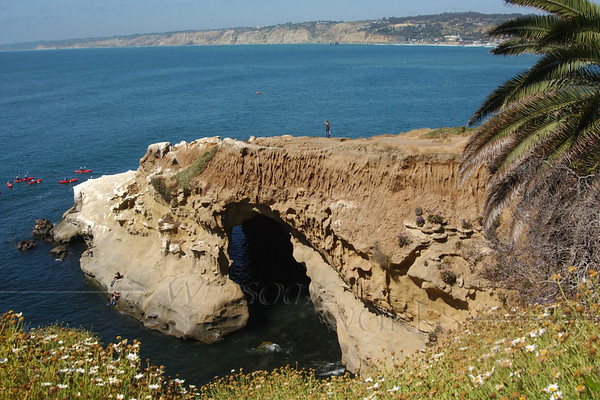 La Jolla Caves with Kayakers in June