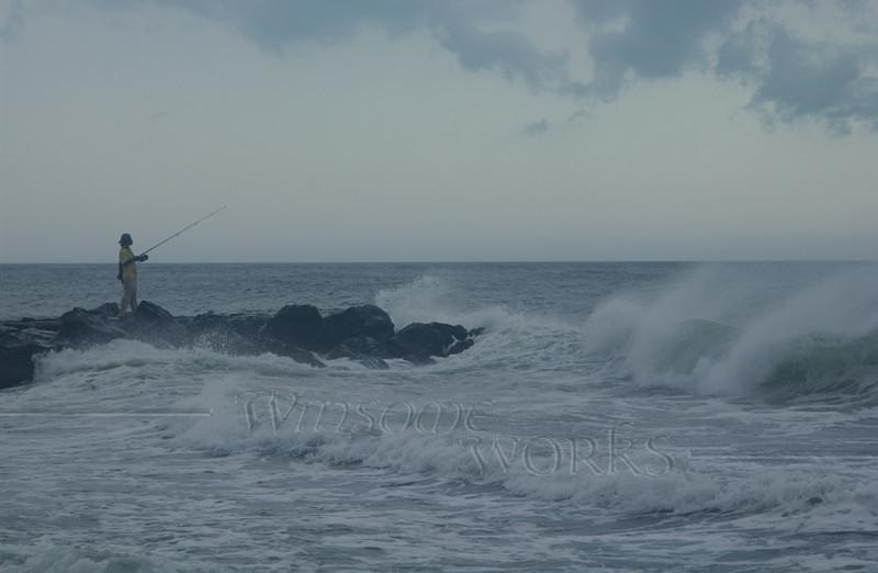 Fisherman at Ocean Grove, NJ