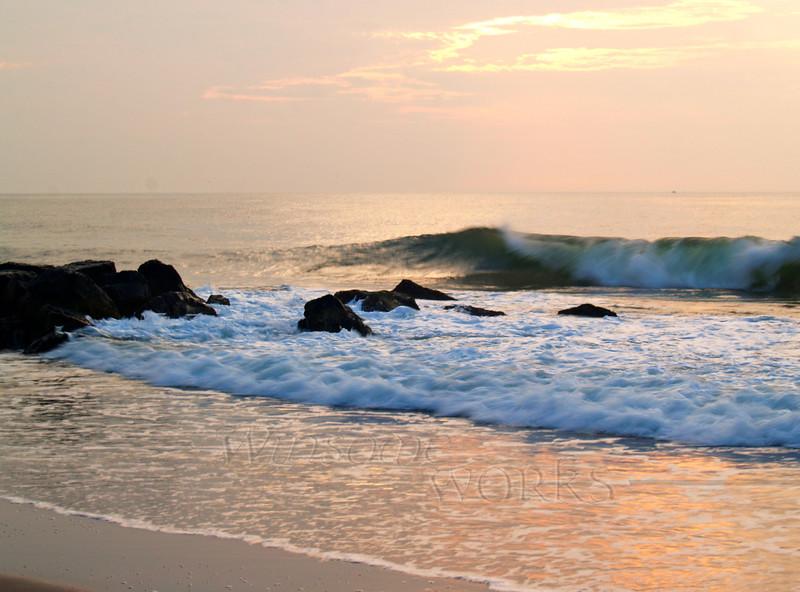 Sunrise surf in Ocean Grove, NJ